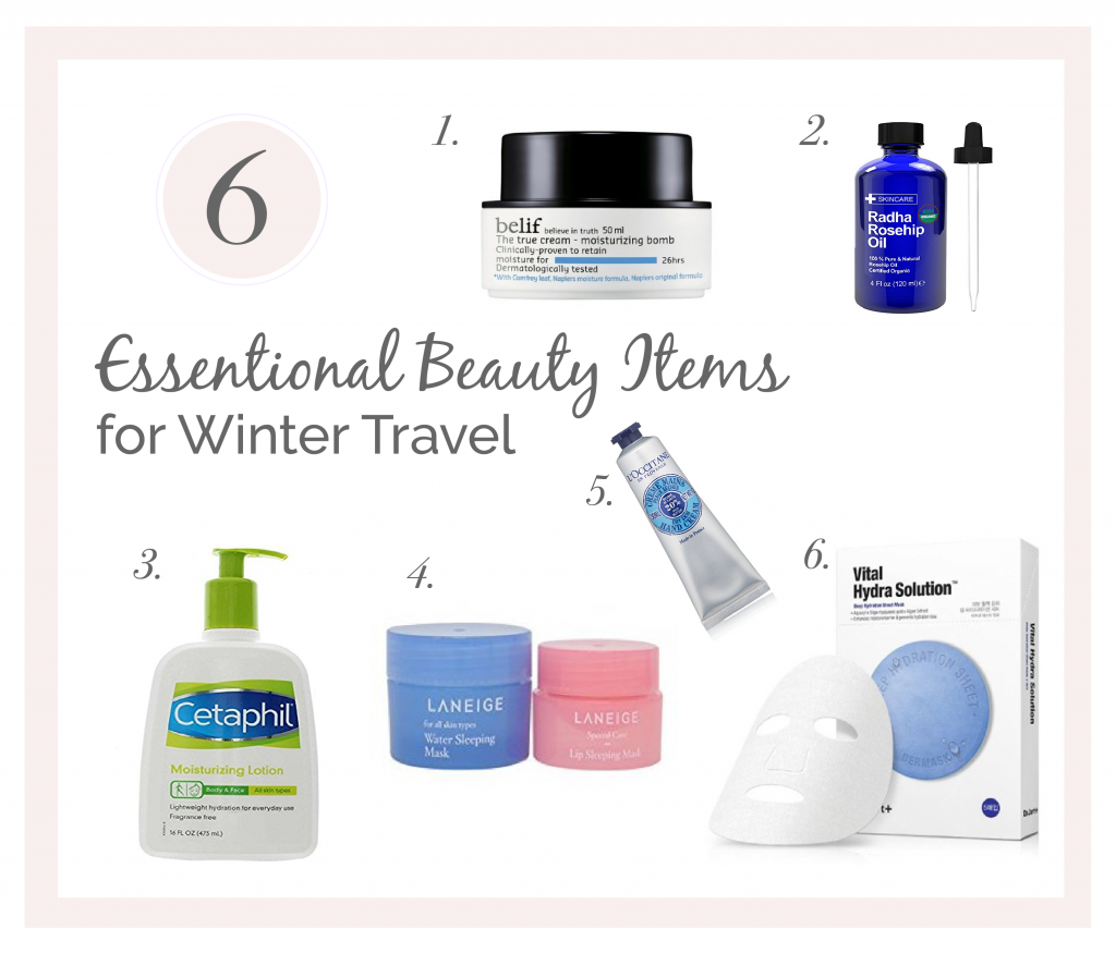 A Survival Guide to Winter Travel | What to Pack for Cold Weather: 6 Essential Beauty Items for Moisturizing Your Skin | www.chloestravelogue.com