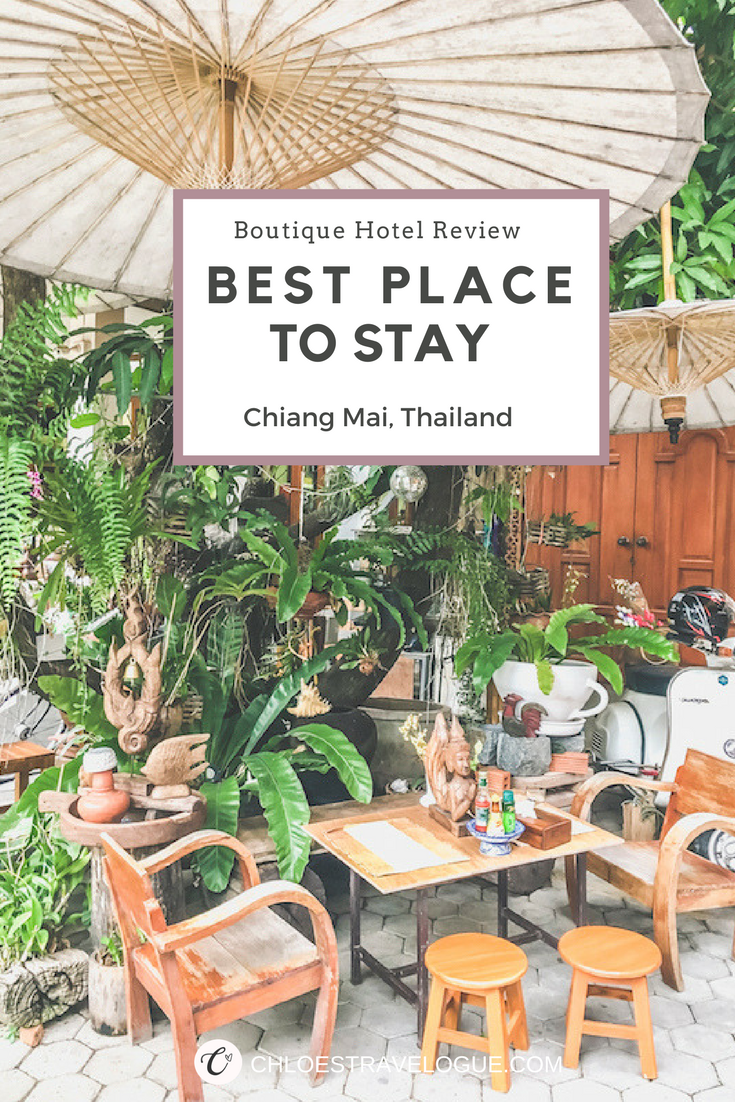Planning a trip to Chiang Mai, Thailand? Check out my experience at this boutique hotel in old city and learn why I think it is the Best Place to Stay in Chiang Mai | www.chloestravelogue.com