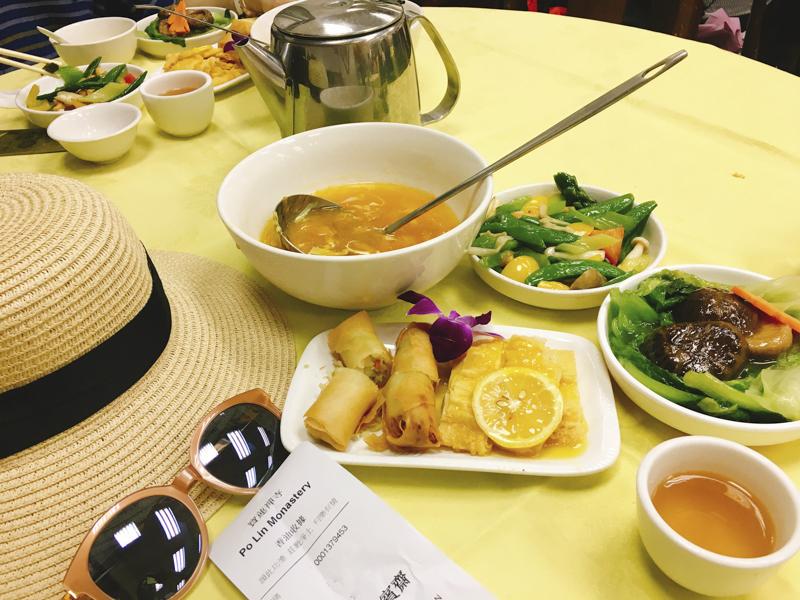 Hong Kong Lantau Island Tour   Try this vegetarian meal at Po Lin Monastery   #LantauIsland #HongKong #DiscoverHongKong #BigBuddha #TianTanBuddha #PoLinMonastery #wisdompath #cablecar #daytrip #BuddhistTemple #vegetarian