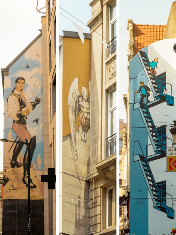 One day in Brussels for Comic Book Buff - Comic Book Route | #Brussels #Bruxelles #Belgium #itinerary #Europe #Comic #ComicMural #Tintin #Landmark | www.ChloesTravelogue.com