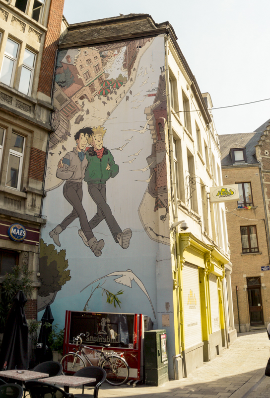 One day in Brussels: Gay District | #Brussels #Bruxelles #itinerary #Europe #GayDistrict #ComicBookRoute #Comic #Brousaille #Landmark | www.ChloesTravelogue.com